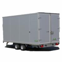 426 x 204 x 190 cm - 3000 kg - Unsinn gesloten aanhangwagen geïsoleerd