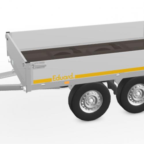 2m60 x 1m50 x 30 cm / 750 kg / Plateau aanhangwagen