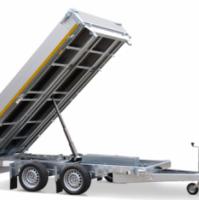 330 x 180 cm - 3500kg - Elektrisch bediend - Verlaagd 63 cm - Aluminium oprijplaten incl. steunpoten - Eduard kipper
