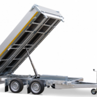 330 x 180 cm - 3500kg - Elektrisch bediend - Verlaagd 63 cm - Aluminium oprijplaten incl. steunpoten