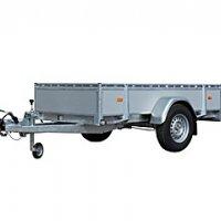 Hapert Azure L-1 bakaanhangwagen in ppl zijwanden (wielen naast de laadvloer)