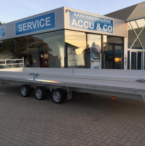 8m x 2m20 / 3500 kg / Plateau aanhangwagen
