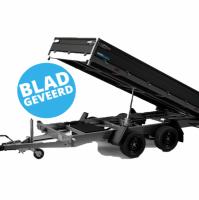 335 x 180 cm - 3500kg - Elektrisch bediend - Verlaagd 69 cm - Oprijplaten incl. steunpoten - Bladgeveerd - Black Edition- Hapert kipper