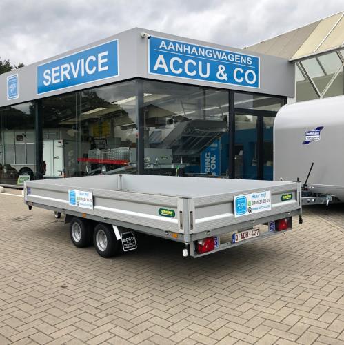 4m20 x 2m / 2600 kg / Plateau aanhangwagen